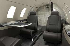Die moderne Kabine der Cessna Citation M2
