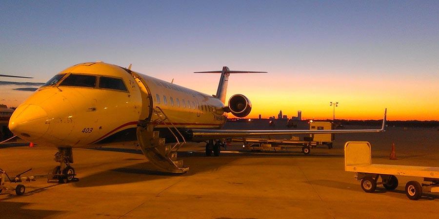 Bombardier CRJ200 am Flughafen Charlotte